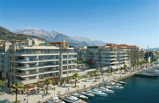 Second construction phase of the Regent Pool Club Residences in Tivat, Montenegro.